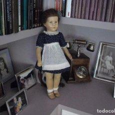 Muñecas Extranjeras: MUÑECA KATHE KRUSE,50 CMS ,CREO QUE SE LLAMA MIMERLE,1950-55,LIGERO DECOLOR EN MEJILLAS. Lote 117746947