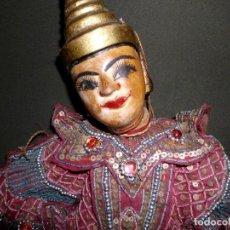 Muñecas Extranjeras: ANTIGUO POLICHENELA INDU DE MADERA. Lote 120968955
