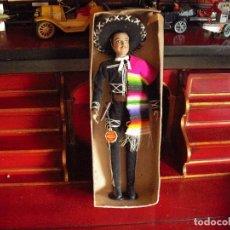 Muñecas Extranjeras: MUÑECO MEXICO EN CAJA ,ORIGEN, MUY BUENOS ACABADOS,35CMS, PERFECTO ESTADO AÑOS 60. Lote 122432163