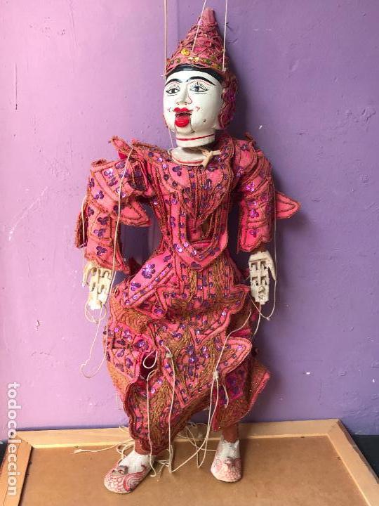 Muñecas Extranjeras: Gran Marioneta tailandesa con articulacion en dedos pies boca etc. - articulada - Foto 2 - 122486771