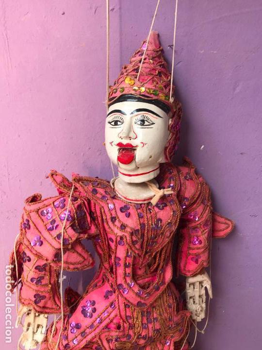 Muñecas Extranjeras: Gran Marioneta tailandesa con articulacion en dedos pies boca etc. - articulada - Foto 5 - 122486771