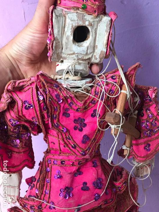 Muñecas Extranjeras: Gran Marioneta tailandesa con articulacion en dedos pies boca etc. - articulada - Foto 8 - 122486771