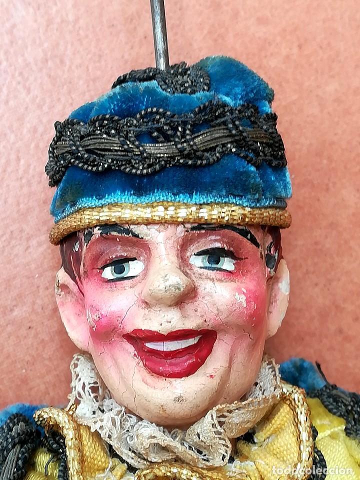 Muñecas Extranjeras: ANTIGUA MARIONETA-TITERE, AÑO 1912-20,FABRICACION CHECA,MARCA MUNZBERGOVY LOUTIK,PRINCIPE,DE TEATRO - Foto 2 - 98552631