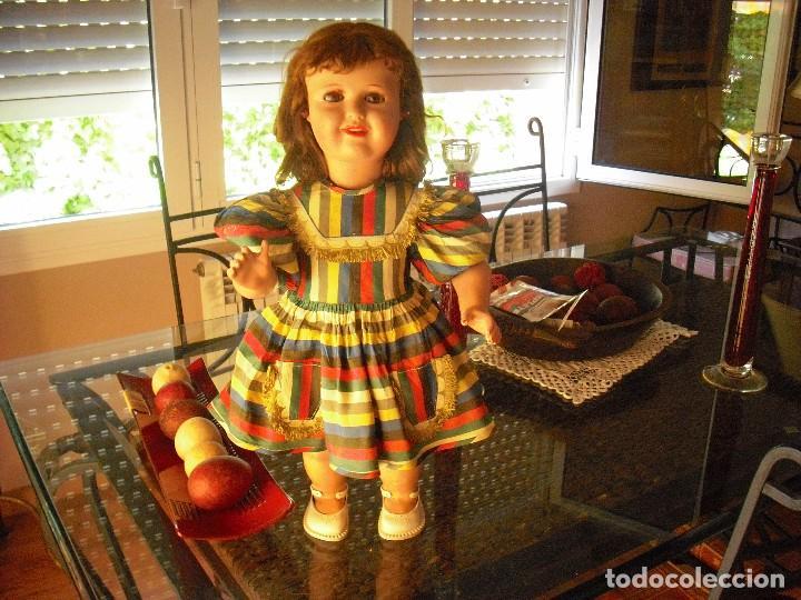 MUÑECA DE LA CASA BELLA,FRANCIA,VESTIDO-ROPA INTERIOR,ORIGEN,PELIRROJA 55CMS,AÑO 1952 (Juguetes - Muñeca Extranjera Antigua - Otras Muñecas)