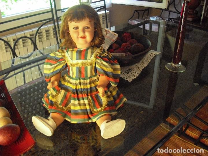 Muñecas Extranjeras: MUÑECA DE LA CASA BELLA,FRANCIA,VESTIDO-ROPA INTERIOR,ORIGEN,PELIRROJA 55CMS,AÑO 1952 - Foto 4 - 124622491