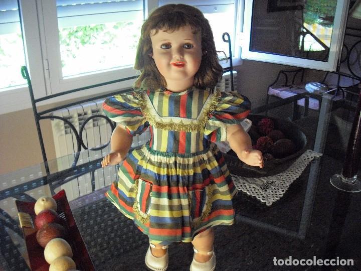 Muñecas Extranjeras: MUÑECA DE LA CASA BELLA,FRANCIA,VESTIDO-ROPA INTERIOR,ORIGEN,PELIRROJA 55CMS,AÑO 1952 - Foto 5 - 124622491