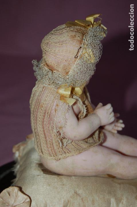 Muñecas Extranjeras: bebé de cera antiguo en cúpula - Foto 8 - 127497311