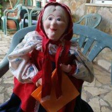 Muñecas Extranjeras: MUÑECA RUSA DE TRAPO CON CARA EN PAPEL MACHE 40CM.. Lote 132061694