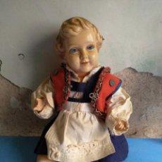 Muñecas Extranjeras: MUÑECO PLÁSTICO O CELULOIDE CON TRAJE TRADICIONAL,MUY ANTIGUO ,MADE UN POLAND. Lote 132311946
