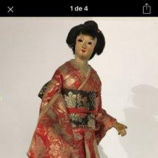 Muñecas Extranjeras: MUÑECA ANTIGUA DE TRAPO - GEISHA - JAPONESA - JAPÓN. Lote 132000927