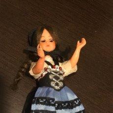 Muñecas Extranjeras: ANTIGUA MUÑECA SUIZA OJOS PRECIOSOS. Lote 137583226