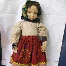 Muñecas Extranjeras: MUÑECA MUY ANTIGUA-CARTON Y TRAPO. Lote 138554586