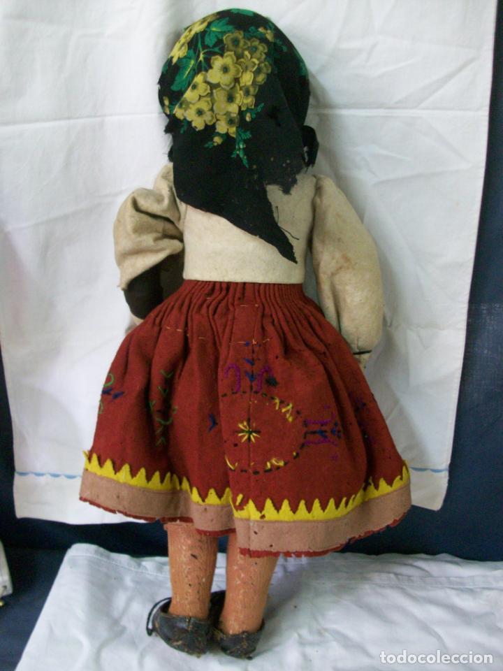 Muñecas Extranjeras: MUÑECA MUY ANTIGUA-CARTON Y TRAPO - Foto 2 - 138554586