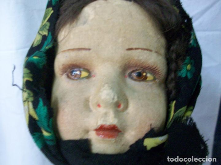 Muñecas Extranjeras: MUÑECA MUY ANTIGUA-CARTON Y TRAPO - Foto 9 - 138554586