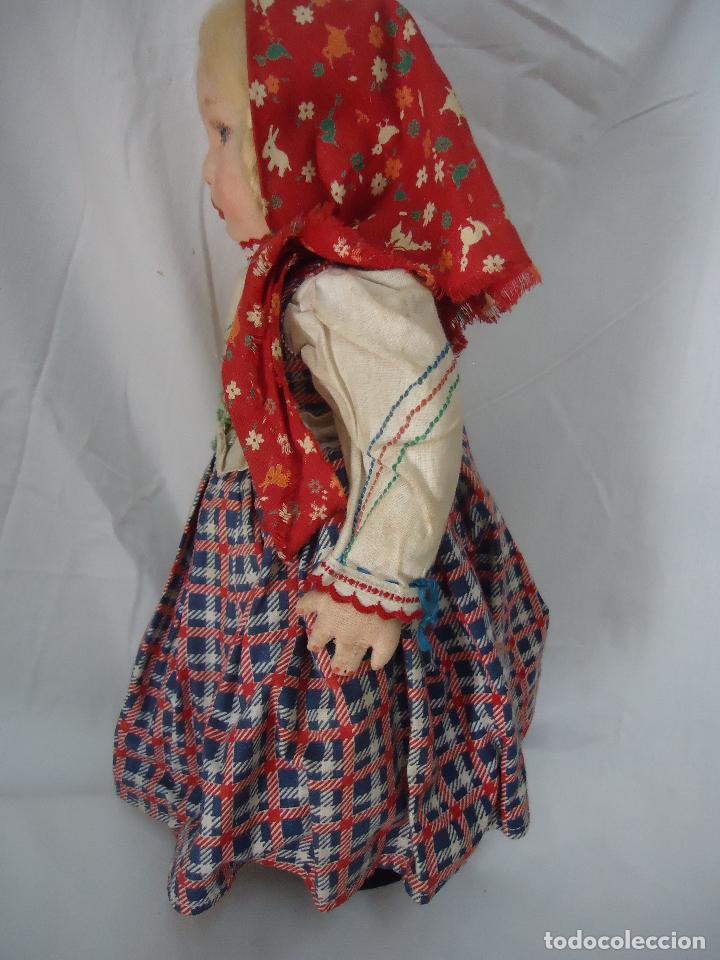 Muñecas Extranjeras: Muñeca Lenci años 20/30 Con vestido regional. Altura 31 cms. - Foto 4 - 138613258