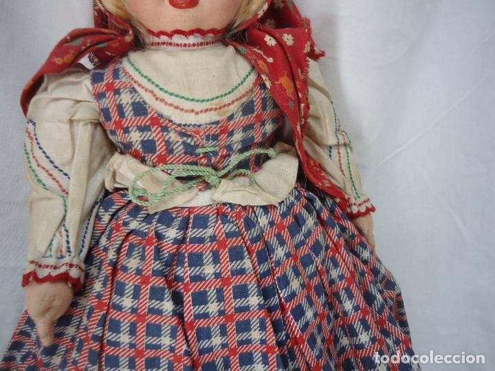 Muñecas Extranjeras: Muñeca Lenci años 20/30 Con vestido regional. Altura 31 cms. - Foto 6 - 138613258