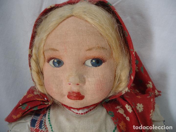 Muñecas Extranjeras: Muñeca Lenci años 20/30 Con vestido regional. Altura 31 cms. - Foto 7 - 138613258