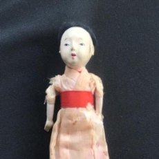 Muñecas Extranjeras: MUÑECO JAPONES NIGNYO DE PAPEL MACHE PERIODO MEIJI. 1850'S.. Lote 140008886