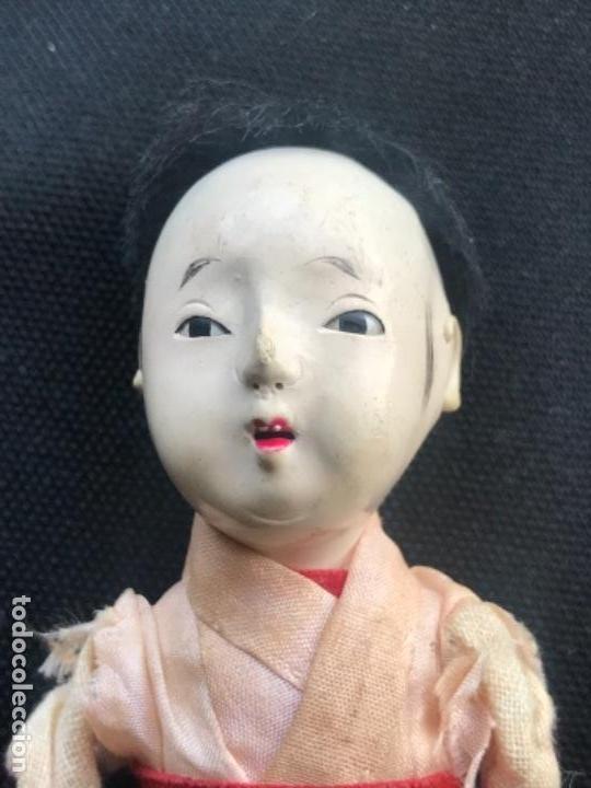 Muñecas Extranjeras: MUÑECO JAPONES NIGNYO DE PAPEL MACHE PERIODO MEIJI. 1850'S. - Foto 2 - 140008886