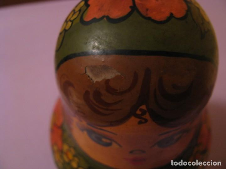Muñecas Extranjeras: TENTETIESO SONAJERO TIPO MATRIOSHKA. MADERA, PINTADO A MANO. ORIGINAL DE URSS. AÑOS 50. - Foto 3 - 140646194