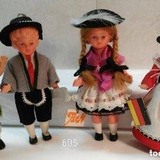 Muñecas Extranjeras: 4 MUÑECOS ALEMANES ÉTNICOS. Lote 121916995