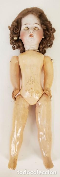 Muñecas Extranjeras: MUÑECA ETIENNE LECONTE. PORCELANA Y COMPOSICIÓN. FRANCIA. SIGLO XIX. - Foto 4 - 141759118