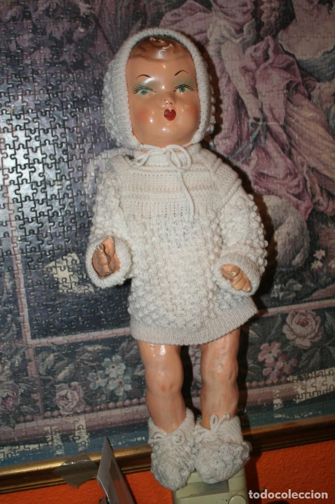 Muñecas Extranjeras: antiguo muñeco de carton piedra - Foto 2 - 142417026