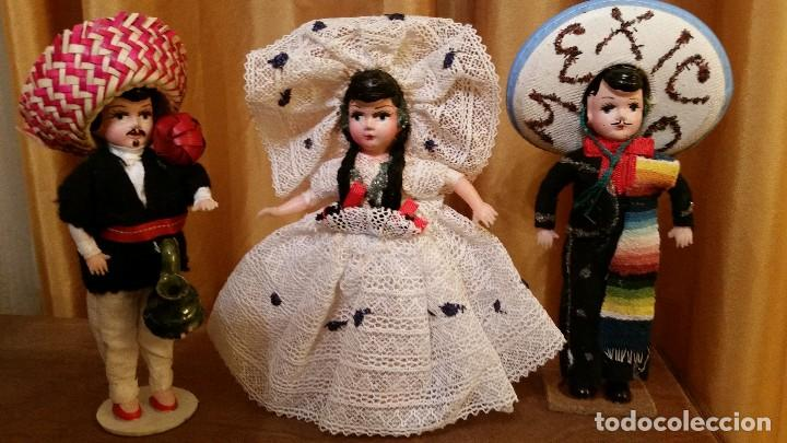 ANTIGUOS MUÑECOS MEXICANOS TIPICOS (Juguetes - Muñeca Extranjera Antigua - Otras Muñecas)