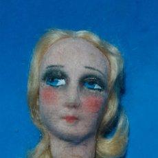 Muñecas Extranjeras: CABEZA MUÑECA ANTIGUA BOUDOIR, TELA PINTADA, . Lote 144488438
