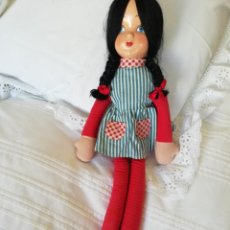 International Dolls - Muñeca cara celuloide y pelo mohair 50 cm - 146623026