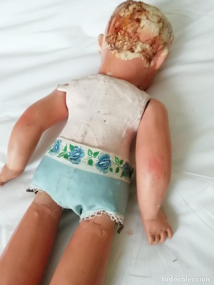 Muñecas Extranjeras: Gran muñeca andadora 60cm para restaurar cara y vestirla - Foto 6 - 147599982