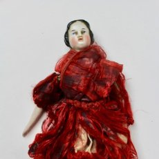 Muñecas Extranjeras: MUÑECA DE PORCELANA Y CUERPO DE TRAPO .FINALES DEL SIGLO XIX.. Lote 148318734