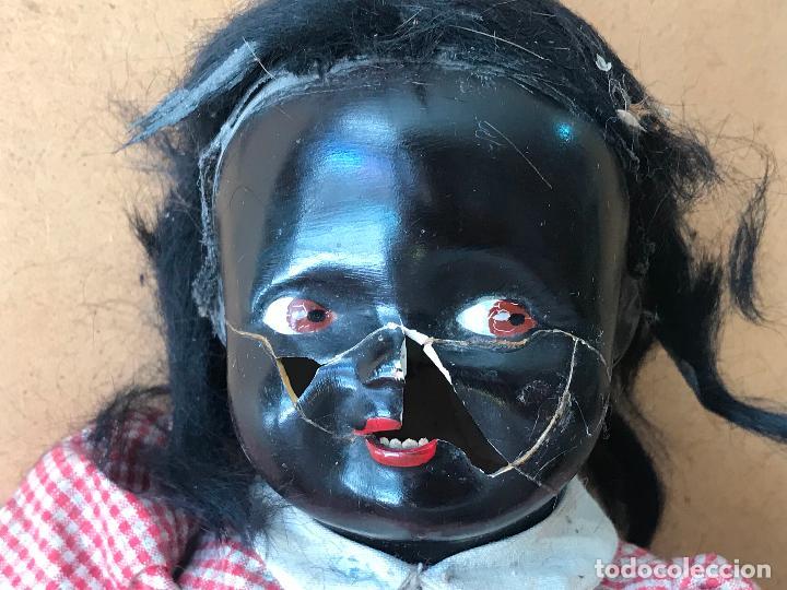 Muñecas Extranjeras: muñeca negra negrita de carton piedra , 36 cm - Foto 8 - 149204950