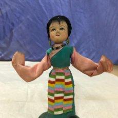 Muñecas Extranjeras: ANTIGUA MUÑECA JAPONESA DE TRAPO REALIZADA A MANO CON DETALLES. AÑOS 30-40. Lote 150986230
