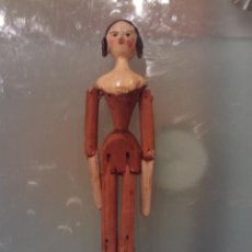 Muñecas Extranjeras: MUÑECA PREINDUSTRIAL,PRINCIPIOS XIX EN MADERA POLICROMADA. Lote 151811702