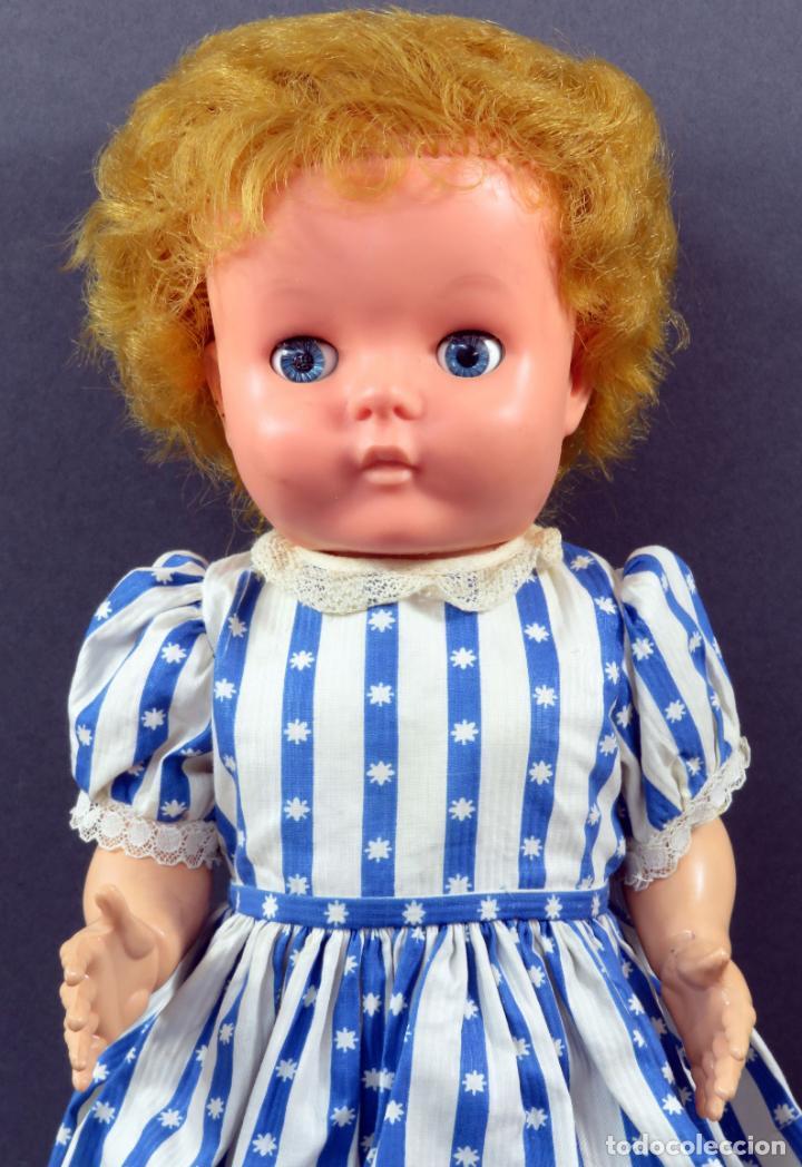 Muñecas Extranjeras: Muñeca andadora inglesa Pedigree goma y plástico ropa original con etiqueta años 60 40 cm - Foto 2 - 151966586
