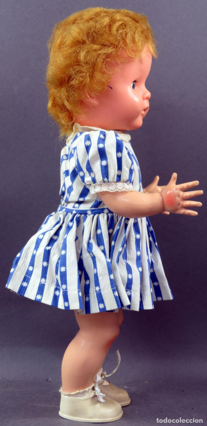 Muñecas Extranjeras: Muñeca andadora inglesa Pedigree goma y plástico ropa original con etiqueta años 60 40 cm - Foto 5 - 151966586