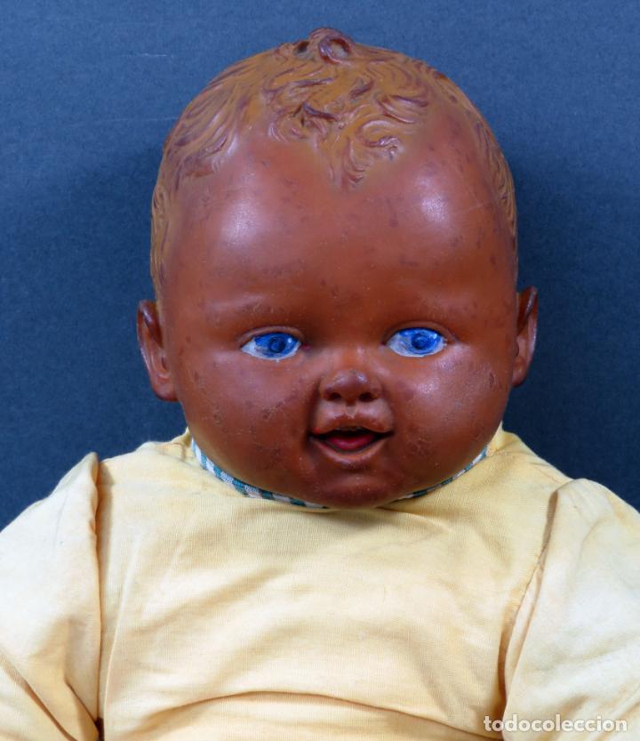 Muñecas Extranjeras: Bebé cabeza manos pies goma y cuerpo trapo años 50 40 cm - Foto 2 - 151977722