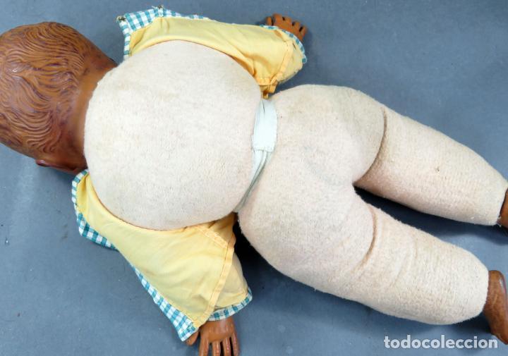 Muñecas Extranjeras: Bebé cabeza manos pies goma y cuerpo trapo años 50 40 cm - Foto 4 - 151977722