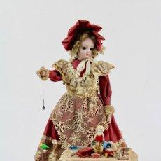 Muñecas Extranjeras: AUTOMATA FRANCES .NIÑA CON JUGUETES.EN FUNCIONAMIENTO.FINALES DEL SIGLO XIX.. Lote 152308806