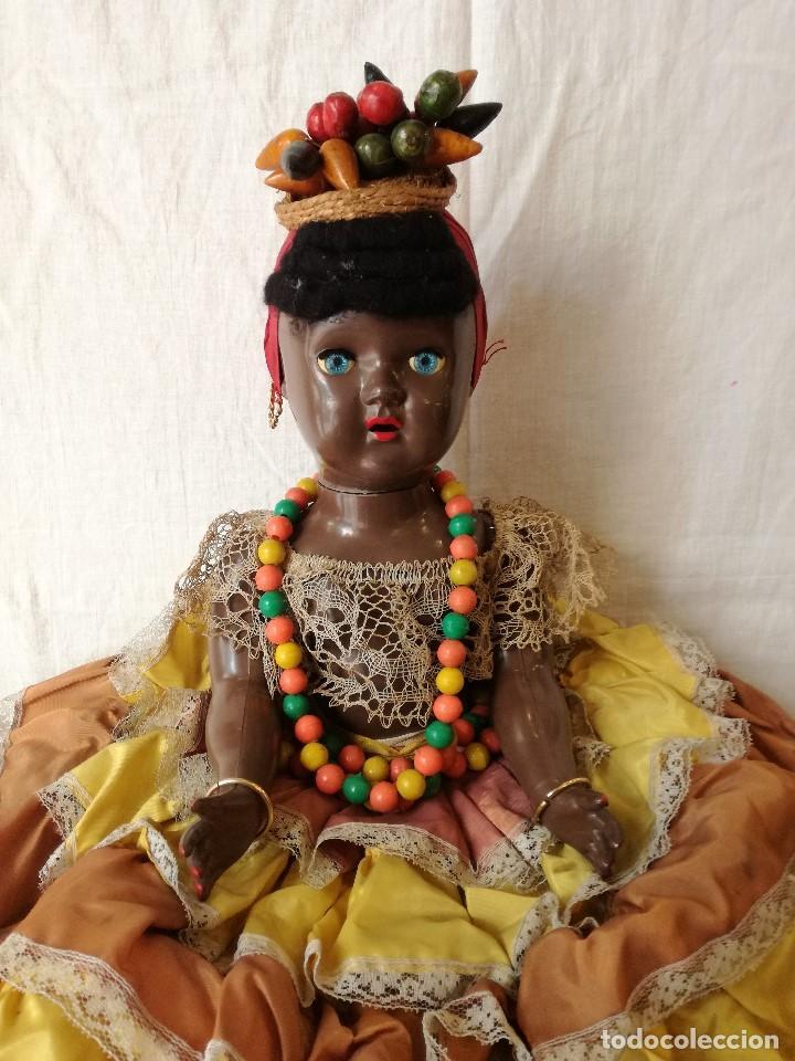 Muñecas Extranjeras: MUÑECA NEGRITA VESTIDA DE CARMEN MIRANDA, DE GRAN TAMAÑO. - Foto 3 - 154549206