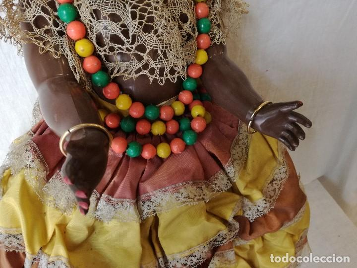 Muñecas Extranjeras: MUÑECA NEGRITA VESTIDA DE CARMEN MIRANDA, DE GRAN TAMAÑO. - Foto 6 - 154549206