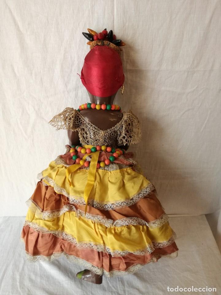 Muñecas Extranjeras: MUÑECA NEGRITA VESTIDA DE CARMEN MIRANDA, DE GRAN TAMAÑO. - Foto 7 - 154549206