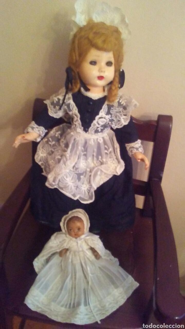 Muñecas Extranjeras: Antigua muñeca Madame Alexander(ver fotos y leer descripcion el bebe no entra en el lote - Foto 2 - 155402482