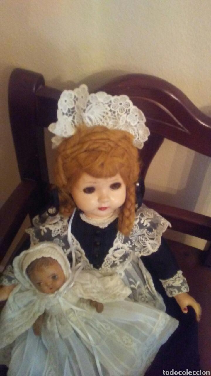 Muñecas Extranjeras: Antigua muñeca Madame Alexander(ver fotos y leer descripcion el bebe no entra en el lote - Foto 3 - 155402482