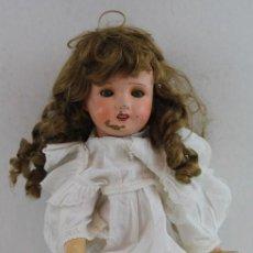 Muñecas Extranjeras: MUÑECA PAPEL MACHÉ ANTIGUA ARTICULADA, 48 CM.. Lote 159993670