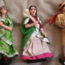 Muñecas Extranjeras: MUÑECAS INDIAS TRADICIONALES ARTESANAS. Lote 160008758