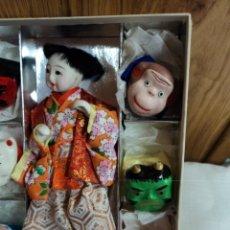 Muñecas Extranjeras: MUÑECA JAPONES CON 6 MASCARAS CEREMONIALES ITCHIMATSU. Lote 166403394