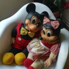 Muñecas Extranjeras: MUÑECOS ANTIGUOS DE MICKEY Y MINNIE MOUSE. Lote 167000288