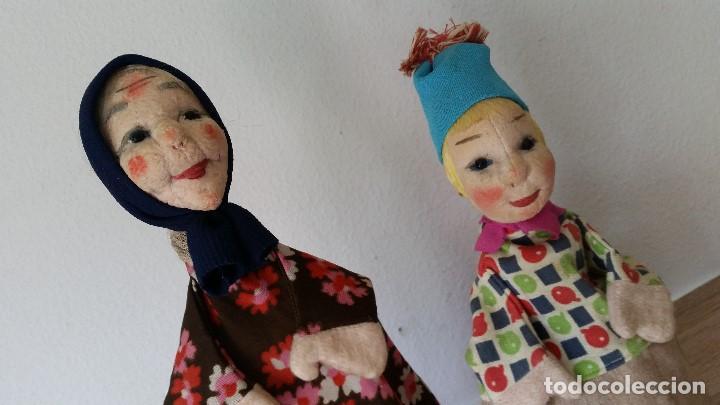 Muñecas Extranjeras: ANTIGUAS MARIONETAS ANOS 30/40 HECHOS A MANO HECHO DE TEGIDO Y PAPEL - Foto 2 - 213538008